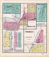 Stockton, Port Allen, Moscow, Conesville, Nichols, Muscatine County 1874